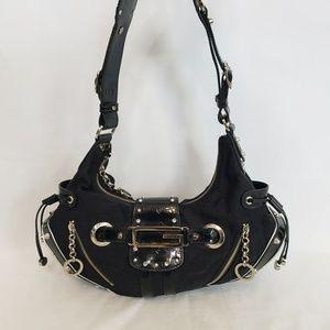 Guess black small hobo purse